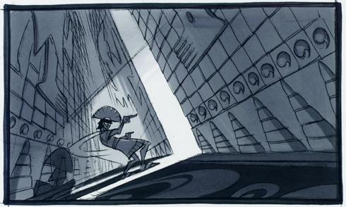 Kuzco, l'Empereur Mégalo [Walt Disney -2001] - Page 6 Storyboard_layout